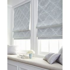 Shop Damask Room Darkening Roman Shade - On Sale - Free Shipping Today - Overstock - 22633592