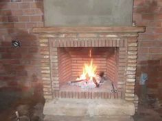 Como hacer una chimenea rústica de ladrillos - YouTube Ideas Para, Stove, Building A House, Things To Come, Around The Worlds, Indoor, Fire, Cool Stuff, Wood