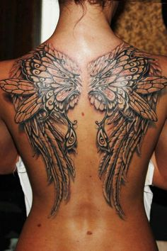 Butterfly wing tattoo