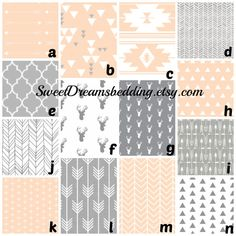 Custom Crib Bedding You Design Grey and by SweetDreamsBedding