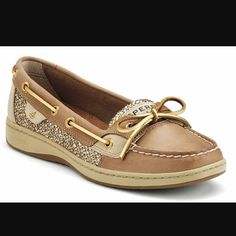 Women's Sperry Top-Sider Gold sparkly Sperry! Never been worn, perfect condition. Perfect for summer! Sperry Top-Sider Shoes Flats & Loafers