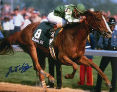 Genuine Risk winning the Derby in 1980.  One of two fillies to ever win (Regret in 1915), Genuine Risk was the only female to ever place in the money in all three races of the Triple Crown.  She died at the age of 31.