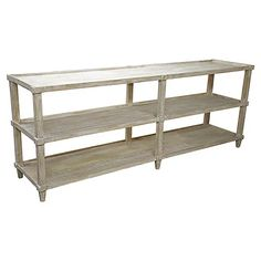 Reclaimed Lumber Console, Unfinished