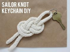 DIY Sailor Knot Keychain