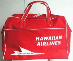 retro airline bag - hawaiian airlines