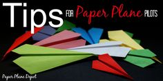 Tips to fly your paper airplane better via http://PaperPlaneDepot.com