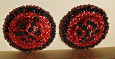 Burlesque, Crochet Earrings, Sequins, Beads, Beading, Bead, Pearls, Seed Beads, Beaded Necklace