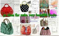 patron sac, couture sac, sacs, How to make different type of bag - 2019 Line Patterns, Sewing Patterns, Beautiful Frocks, Craft Bags, Couture Sewing, Types Of Bag, Simple Bags, Baby Sewing, Baby Dress