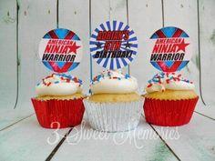American Ninja Warrior Printable Cupcake Toppers