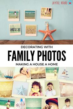 Decorating With Family Photos  - http://www.joyfulabode.com/decorating-family-photos/ Life can get in the way of decorating sometimes, but decorating with family photos can be a simple and achievable way to add some warmth and enjoyability!  #Natalie