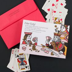 """poker party invitation/casino theme party invitation. Surprise party: """"shhhhh! Keep your poker face!"""""""