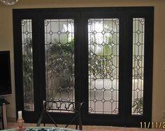 Lead glass front door!