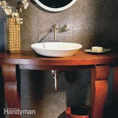 How to add vessel sink and required plumbing.
