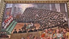 A painting of the Council of Trent from Santa Maria in Trastevere