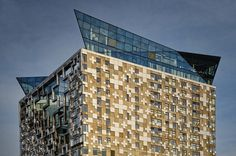 One of my favourite shots of the MAKE Architects Cube, an iconic Birmingham landmark.