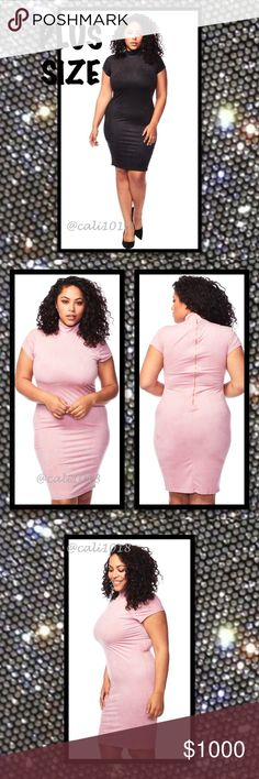 ⭐️⭐️COMING IN 1-2 DAYS RESERVE YOUR SZ NOW⭐️⭐️ New Plus Size Black Faux Suede Mock Neck Cap Sleeve Bodycon Midi Dress  Material: TBD  Type: Faux Suede  Color: Black ONLY (Pink Only For Reference in Pics)  Size: 1X, 2X, 3X  Approx. Measurements:  1X: TBD  2X: TBD  3X: TBD  Made in USA  Details: Faux Suede; Mock Turtleneck; Bodycon; Cap Sleeve; Stretchy; Midi Length Glam Squad 2 You Dresses Midi