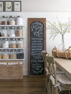 Cute idea for the dining room.