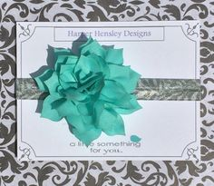 Large teal flower headband! by HarperHensleyDesigns on Etsy https://www.etsy.com/listing/240859845/large-teal-flower-headband