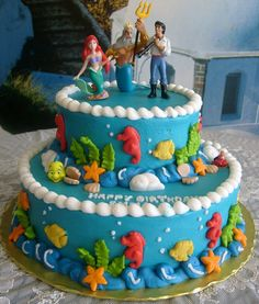 The Little Mermaid Cake.  @Carissa from {Carissa Miss} Corpus I found your 21st birthday cake