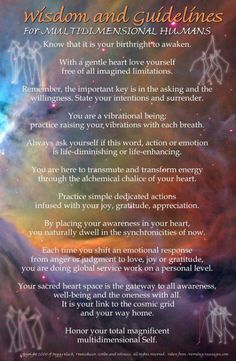 Awaken..∆ Listen to our higher self....