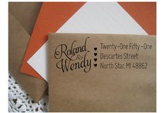 Wedding Invitation Address Stamp House Warming by TailorMadeStamps, $27.00