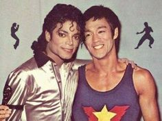 Michael Jackson and Bruce Lee. It would've been nice if they had really met in person.