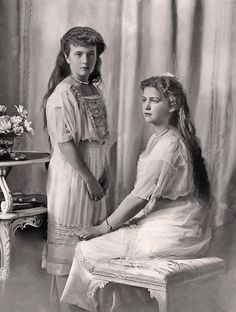 Grand Duchesses Maria and Anastasia Nikolaevna of Russia, 1914,but I don't know where they originally came from, so if they are yours, please let me know and I will credit you