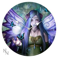 Mystic Aura Anne Stokes Purple Fantasy Goth Pentagram Angel Art Round Wall Clock PTC http://www.amazon.com/dp/B00F2O005Y/ref=cm_sw_r_pi_dp_IVePub19NW2TG
