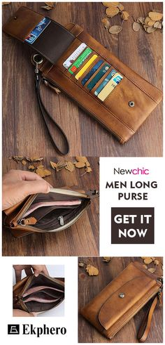 16821d9370 Ekphero Men Long Card Holder Phone Bag Clutch Bag Purse sales at a  wholesale price. Come to Newchic to buy a wallet, more cheap wallets for man  are provided ...