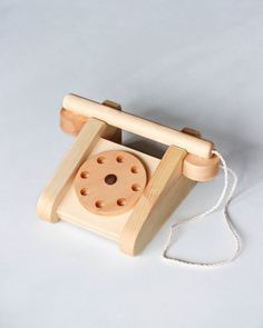 Handmade Wooden Telephone : Odin Parker - Shop All Wooden Toy Cars, Wooden Baby Toys, Wood Toys, Wooden Toys For Kids, Kids Wood, Montessori Toys, Cute Toys, Diy Toys, Toddler Toys