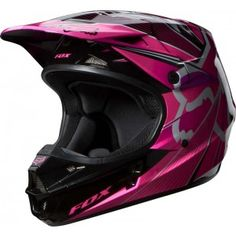 Fox Racing 2014 V1 Helmet Radeon Pink -- Size L