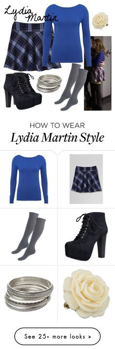 """Lydia Martin: Wolf Moon"" by fandom-wardrobes on Polyvore featuring Lands' End, Speed Limit 98, M&Co, MANGO, Kenneth Jay Lane and TeenWolf"
