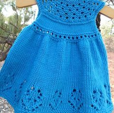 """Knit Lilly Rose Dress pattern by Taiga Hilliard """"Lilly Rose Dress \""""Knit Lilly Rose Dress pattern by Taiga Hilliard\"""", \""""Started this cute baby dress. Knitting For Kids, Baby Knitting Patterns, Baby Patterns, Free Knitting, Knitting Projects, Sewing Patterns, Cute Baby Dresses, Little Girl Dresses, Summer Dresses"""