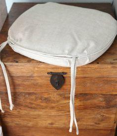 Restoration Hardware Madeleine Linen Chair Cushion