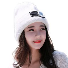 8239bf4d239 Winter Wool Cap Women Knit Thick Beanie Hat with Earflap Pure Kawaii and  Sweet Keep Warm for Ski