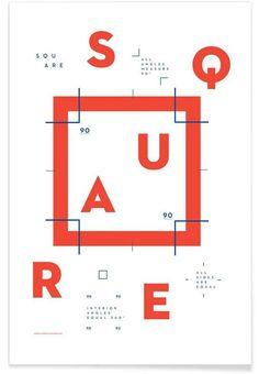 Square als Premium Poster von Nick Barclay   JUNIQE