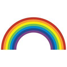 Regenboog muur Sticker