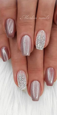 img) Want to see new nail art? These nail designs are really great Picture 98 img) Want to see new nail art? These nail designs are really great Picture 98 ,Ładne paznokcie art designs nail designs nails nails nail art Fancy Nails, Cute Nails, Pretty Nails, Glitter French Nails, Glitter Nail Polish, Nail Nail, Rose Gold Nails, Nail Designs Spring, Simple Nail Designs