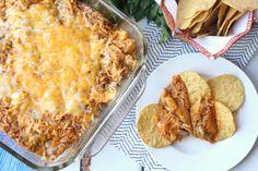 Cheesy Chicken Enchilada Dip - FamilyFreshMeals.com