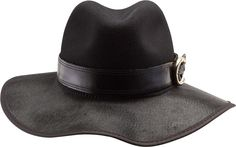 Janet Hat in Black Hair on Leather, designed by Ruby Roxanne Designs for American Hat Makers. www.americanhatmakers.com