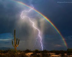O raio e o arco-íris