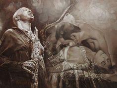 Художница Марина Подгаевская: картина Джаз как жизнь - холст,масло