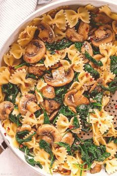 #Healthy #easy #dinner #recipes #quick #vegetarian Parmesan Spinach Mushroom Pasta Skillet   Super quick and impossible to mess up This parmesan spinach mushroom pasta skillet is the ultimate win for vegetarian weeknight dinners   bybrp classfirstletterwelcome to the site with the utmost content about spinachpA quality impression can tell you many things You can find the maximum exquisitely icon that can be presented on eatwell101 in this accountWhen you look at our control panel there are…