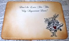 Alice in Wonderland Save the Dates