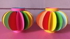 How to Make Lantern with Color Paper, DIY Fancy Paper Lantern Making Paper Lantern Making, Chinese Paper Lanterns, Diy Paper Lanterns, Decorating With Paper Lanterns, Lantern Crafts, Ramadan Decoration, Diwali Decorations, Diwali Craft, Diwali Diy