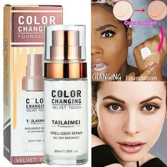 Shop Elegance is the best online shop for flawless colour changing foundation in Uk. Buy flawless color changing foundation at GBP in UK. How To Match Foundation, Foundation Colors, No Foundation Makeup, Liquid Foundation, Too Faced Concealer, Natural Sunscreen, Beauty Care, Best Makeup Products, Color Change