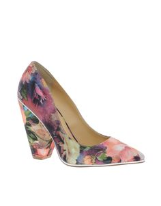 ASOS POLLY Pointed Floral Heels