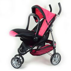 Little girls love to mimic grownups, which is why this modern doll stroller makes such a great gift. The seat of this small stroller detaches and becomes a car seat carrier, just like a real full-sized version. Playing house has never been more fun.