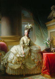 1778, Marie Aintonette painted by Marie Louise Elisabeth Vigée-Lebrun, Kunsthistorisches Museum Wien