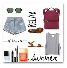 """""""Summer // 5"""" by chloeearnold on Polyvore featuring Ray-Ban, Sophie Hulme, Steve Madden, Butter London, Stila, Lord & Berry and Michael Kors"""